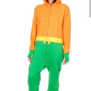 Aquaman Uniform Hooded One Piece Pajama